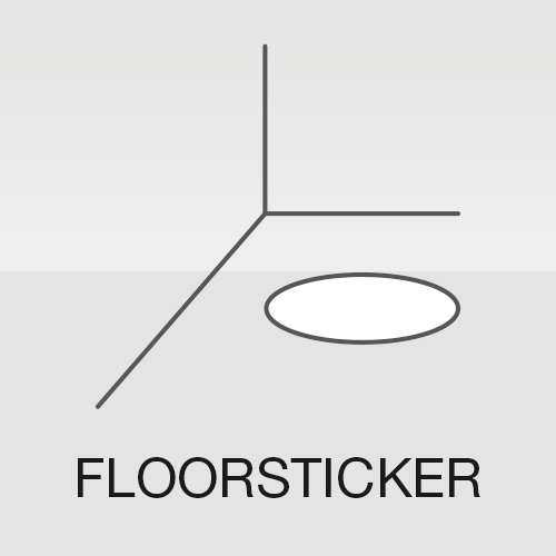 Floorsticker Bodenaufkleber outdoor