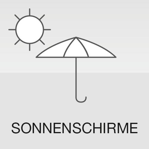 Bedruckbare Sonnenschirme POS Display